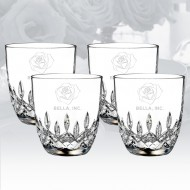 Waterford Lismore Encore DOF Whiskey Tumbler 9.8oz, 4pcs Set
