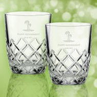 Kate Spade Downing Cuts Avenue DOF Whiskey Glass 10oz, Pair