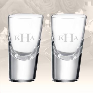 Rogaska Heritage 90 Degrees Shot Glass, Pair