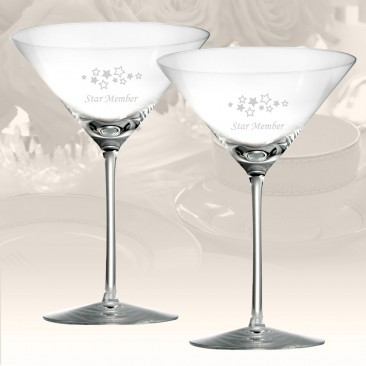 Rogaska Expert Martini Glass, Pair