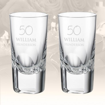 Rogaska Manhattan Shot Glass, Pair
