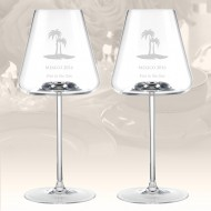Rogaska Armonia White Wine Glass, Pair