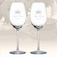 Rogaska Expert White Wine Glass, Pair