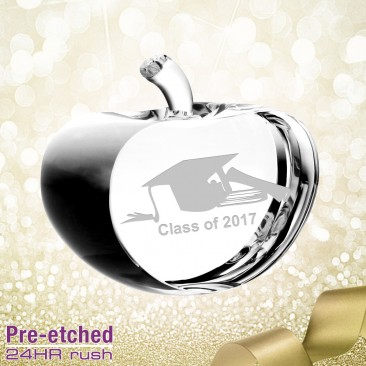 Pre-etched Graduation Apple Gift
