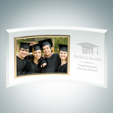 Academic Curved Horizontal Gold Photo Frame