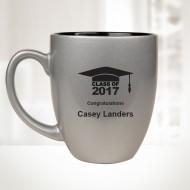 16oz Silver Ceramic Bistro Mug