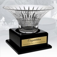 Waterford Limited Edition Lismore Diamond Bowl with Personalized Wood Base