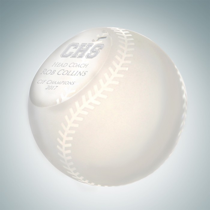 Slanted Frosted Baseball