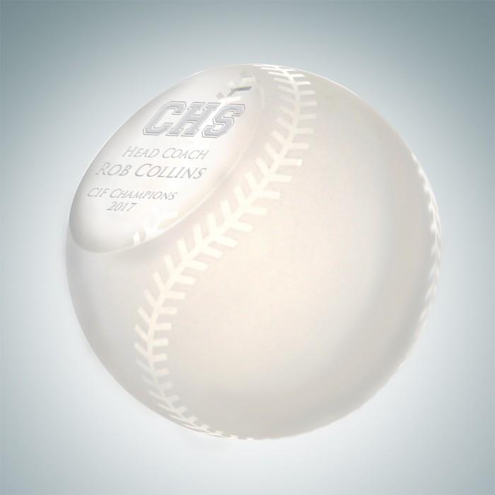 Slanted Frosted Baseball