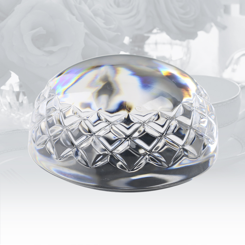 Personalized Waterford Gem Cut Half Sphere Dome Paperweight*