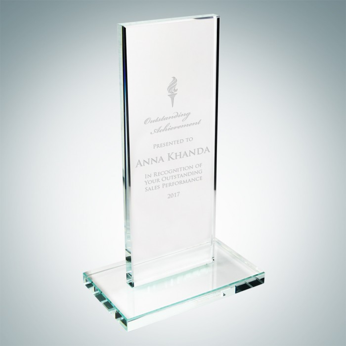 Clear Vertical Rectangle Plaque