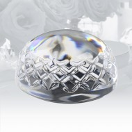 Waterford Gem Cut Half Sphere Dome Paperweight