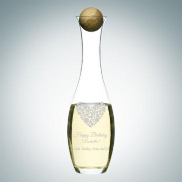 Sagaform Water/White Wine Carafe with Oak Stopper,  33oz