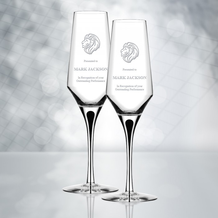 Orrefors Metropol Champagne Glas