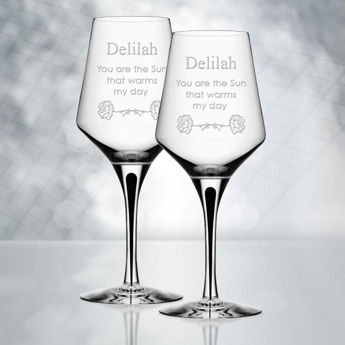 Orrefors Metropol White Wine Gla