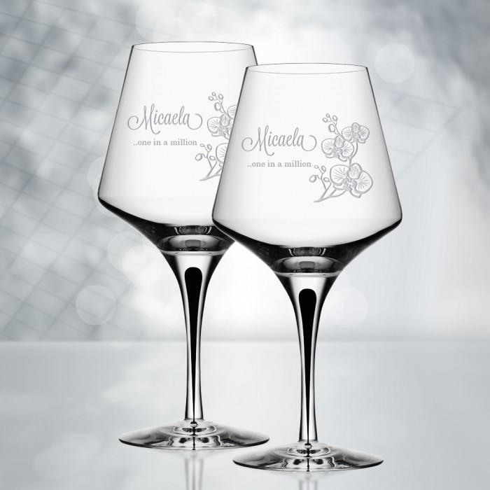 Orrefors Metropol Red Wine Glass