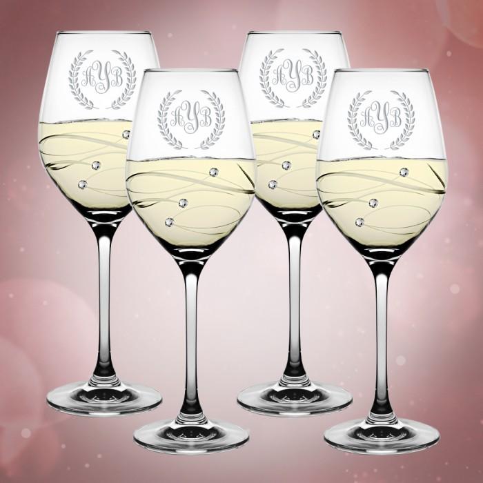 Barski Sparkle White Wine Glass