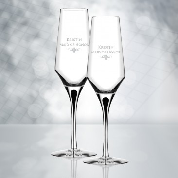 Orrefors Metropol Champagne Glass 9.1oz, Pair
