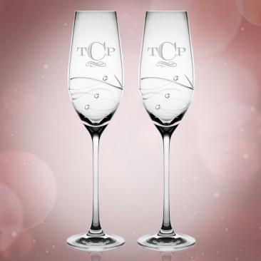 Barski Sparkle Champagne Flute 7oz, Pair