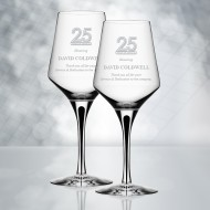 Orrefors Metropol White Wine Glass 13.5oz, Pair
