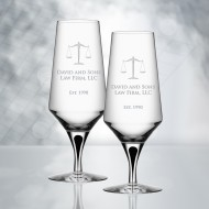 Orrefors Metropol Beer Glass 15.6oz, Pair