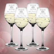 Barski Sparkle White Wine Glass 12.5oz, Set