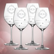 Barski Sparkle Red Wine Glass 16oz, 4pc Set