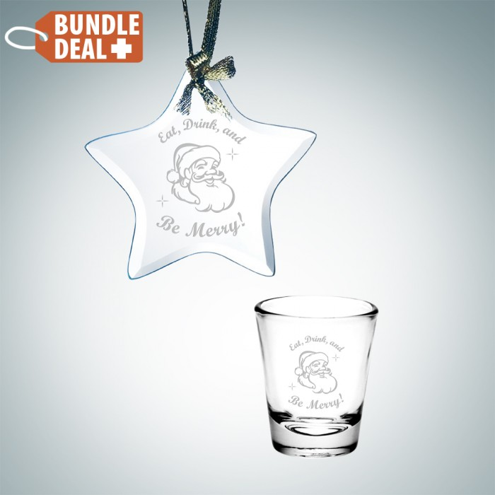 Star Ornament and Shot Glass Set