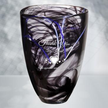 Kosta Boda Black Contrast Vase