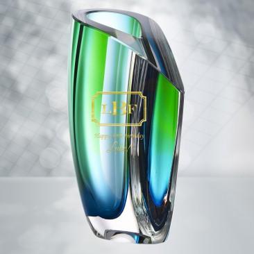 Kosta Boda Blue Green Mirage Vase