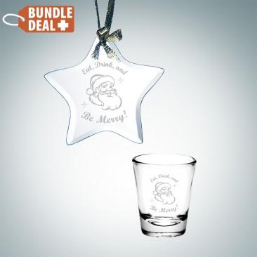 Star Ornament and Shot Glass Gift Set