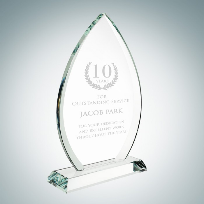 Teardrop Award with Base