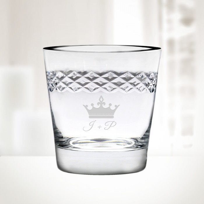 Diamond DOF Whiskey Glass 14.75o