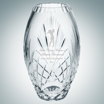 Kristaluxus Crystal Glass Vase Professional Design Art Glass