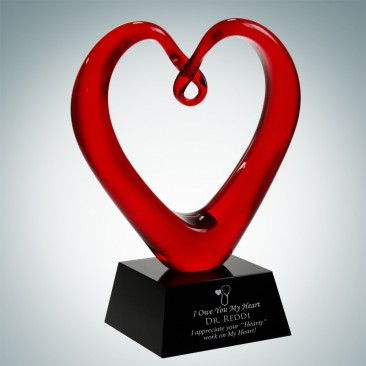 Art Glass The Whole Heart Award