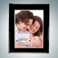Sublimation Color Silver Border Aluminum Plate on Glossy Horiz./Verti. Blackwood Plaque