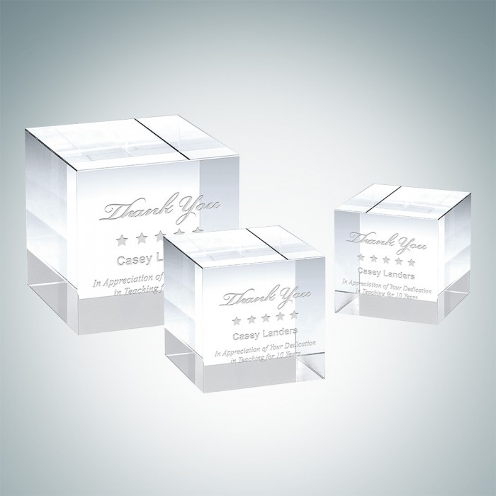 Straight Cube Paperweight