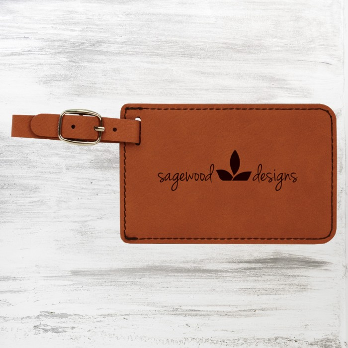 Rawhide Leatherette Luggage Tag