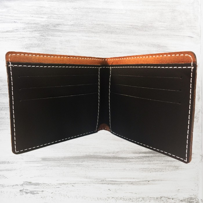 Black/Silver Leatherette Bifold