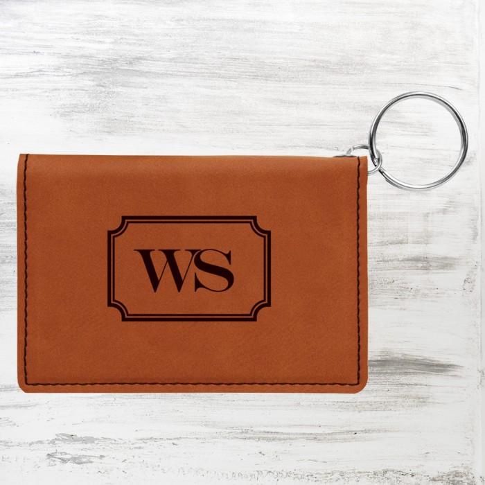 Rawhide Leatherette Keychain ID