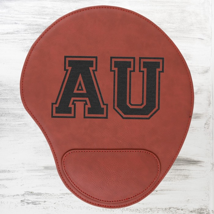 Rose Leatherette Mouse Pad