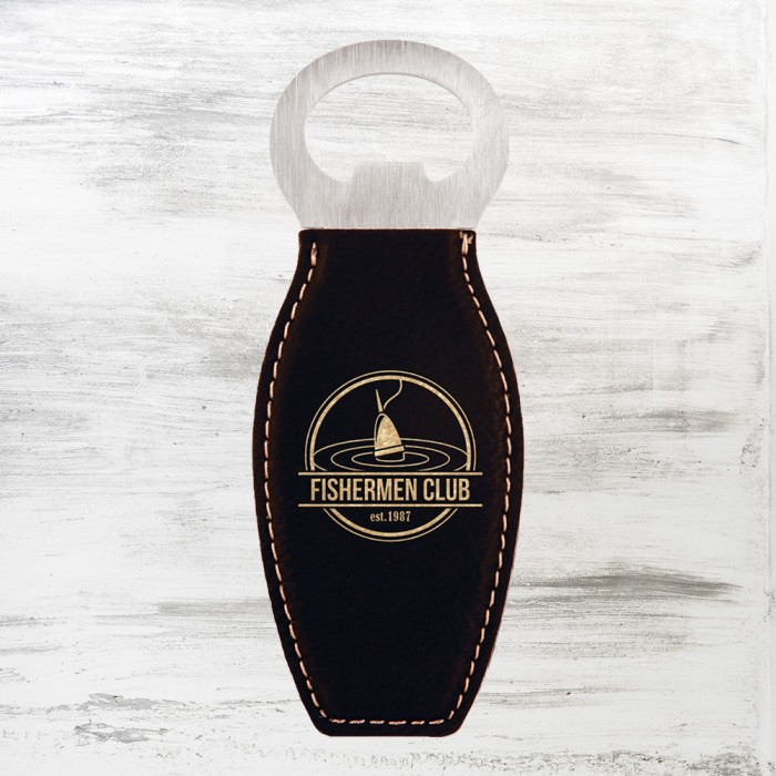 Black/Gold Leatherette Bottle Op