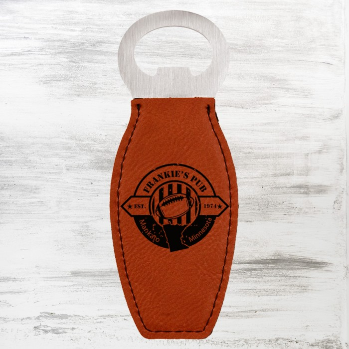 Rawhide Leatherette Bottle Opene