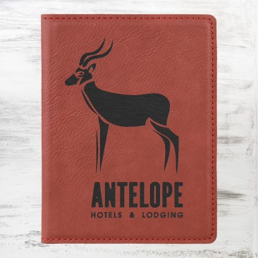 Rose Leatherette Passport Holder