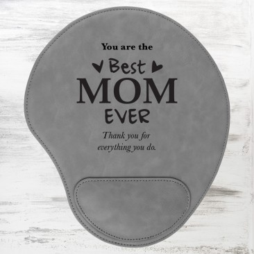Gray Leatherette Mouse Pad