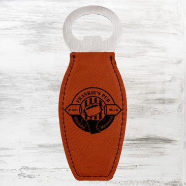 Rawhide Leatherette Bottle Opener with Magnet