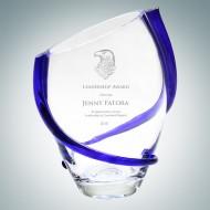 Cobalt Blue Swirl Vase