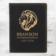 Black/Gold Leatherette Passport Holder