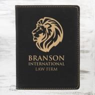 Black/Gold Leatherette Passport Holder