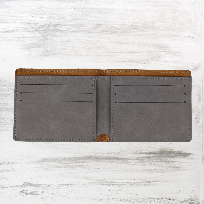 Gray Leatherette Bifold Wallet